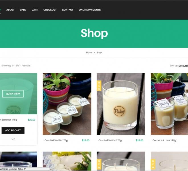 Website design and website development for Newcastle based handmade business Flicka Handmade