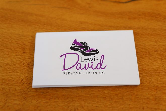 Business card design, Logo design, branding and graphic design for Lewis David Personal Training in Newcastle NSW