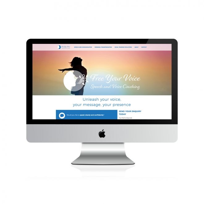 Free Your Voice Website Design and development The Yard Creative Newcastle